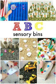 ABC sensory bins-han