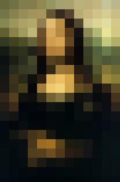 #MonaLisa #Pixels #Art