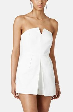 Topshop Notched Neck Romper available at #Nordstrom