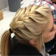 Great hairdo for nurses.  Cute and functional