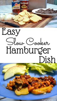 I love how easy this slow cooker dinner is to make. Just a few ingredients and a few minutes in the morning and dinner is underway. It's a hearty dish that our family loves. Recipes Using Hamburger, Hamburger Dishes, Beef Dishes, Easy Family Meals, Frugal Meals, Easy Meals, Frugal Recipes, Freezer Meals, Best Crockpot Recipes