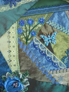 I crazy quilting . . . Detail B/G. by Margreet from Holland