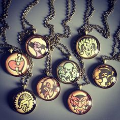 Bioshock-inspired necklaces for the Elizabeth in your life. (M)
