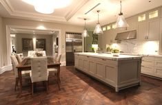 Custom recycled Tallowwood Marie Antoinette parquetry finished in natural oil to compliment a beautifully designed kitchen Parquetry Floor, Display Homes, French Oak, French Provincial, Marie Antoinette, Plank, Your Design, Hardwood, Flooring