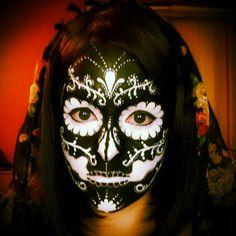 Inverted Sugar Skull makeup 02. by ~AllMadHera