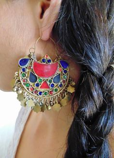These beautiful vintage Kuchi Tribal Earrings are hand made.
