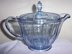 Depression Glass Covered Pitcher