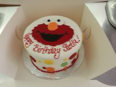 Tickle me Elmo...but maybe not after eating all of this cake -YUM!