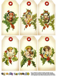 Christmas: Free Printable Retro Tags, Labels and Toppers. Christmas Paper, Christmas Gift Tags, All Things Christmas, Christmas Holidays, Christmas Crafts, Xmas, Christmas Ornaments, Victorian Christmas, Vintage Christmas