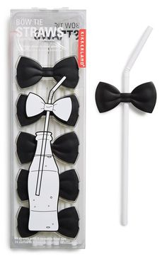 Free shipping and returns on Kikkerland Design Bow Tie Straws at Nordstrom.com. Make any occasion a black-tie affair by snapping these bow ties onto the accompanying straws and voilà: instant fancy drinks.