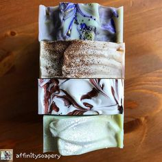 #bubblelove from @affinitysoapery - A simple stack of pretties! . . . Lavender Spritzer La Playa Cappuccino and Great Wave . . ... Anyone else SO GLAD it's Friday? - #4theloveofbubbles
