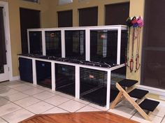 IKEA kitchen tables converted to Canine Condo :@