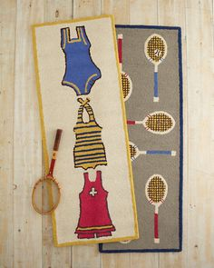 For the Sport of It Hooked Wool Rug