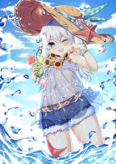 qunqing benghuai xueyuan honkai impact theresa apocalypse see through wet Loli Kawaii, Kawaii Anime Girl, Beautiful Anime Girl, I Love Anime, Anime Chibi, Manga Anime, Neko Maid, Konosuba Wallpaper, Estilo Anime