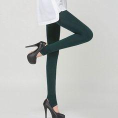 Free Shipping Fashion Ladies Pants Fashion Women Trousers Socks Solid Leggings Slim Stretchy Pants 4 Colors