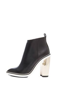 Nicholas Kirkwood 105mm Platino Heel Leather Booties in Black | FWRD [1]