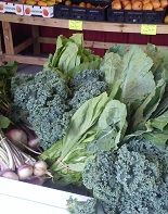 Fresh, local mustard greens, collard greens, turnip greens, and kale!