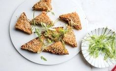 Shrimp Toasts With Sesame Seeds and Scallions