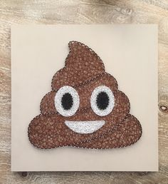 "Poop Emoji String Art  18"" x 18"" Visit the String of the Art's Etsy Shop to learn how to make your own DIY String Art Kits!"