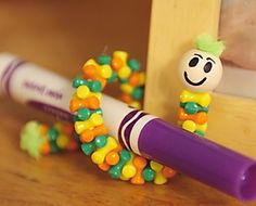 W is for worm-can also use for patterning and fine motor skill development
