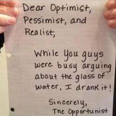 [Humor] Dear optimist