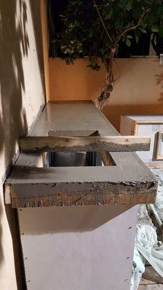 News Concrete Studio Handmade concrete bench tops and basins. Outdoor Bbq Kitchen, Backyard Kitchen, Outdoor Kitchen Design, Diy Kitchen, Interior Design Living Room, Kitchen Decor, Concrete Kitchen, Concrete Countertops, Kitchen Flooring