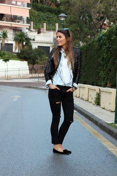 Chaqueta/Jacket – Zara (old)    Camisa/Shirt – Mango (old)    Camiseta/T-shirt – Zara (FW 12-13)    Jeans – Zara (SS 13)    Slippers – Fashion Pills (FW 12-13)    Clutch – Mekdes    Gafas de sol/Sunglasses – Gucci    Pulsera/Bracelet – Lowlita