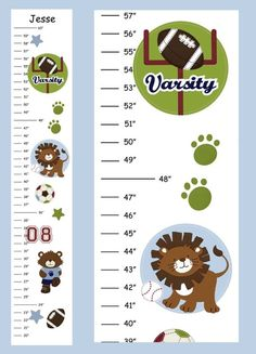 Personalized All Star Jungle Sports Canvas Growth by 123growwithme, $24.00