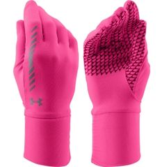 Train without distraction in the Under Armour® Women's Layered Up Liner Gloves. Ultra-light ColdGear® Infrared technology uses an incredibly soft thermo-conductive inner lining to absorb and maintain your body heat so you stay warmer, longer. Convenient tech touch print technology enables you to use touch screen devices without exposing your hands to the elements. Find ultimate protection from the cold with the UA Layered Up Gloves.