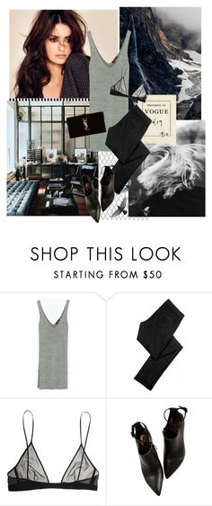 """""""Untitled #137"""" by fashionably-late ❤ liked on Polyvore featuring Barneys New York, Zara, Siwy and Yves Saint Laurent"""