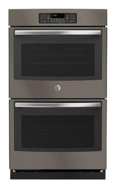 """1450 GE - 30"""" Built-In Double Electric Wall Oven - Slate - Larger Front JT3500EJES"""