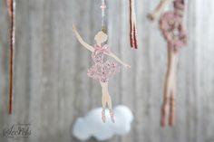 Ballerina Baby Mobile Girl Baby Mobile by AnnasHandmadeSecrets