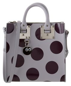 SOPHIE HULME SOPHIE HULME ALBION POLKA DOT LEATHER SQUARE TOTE'. #sophiehulme #bags #shoulder bags #hand bags #leather #tote #lining #bag, сумки модные брендовые, bag lovers,bloghandbags.blogspot.com