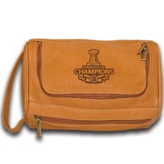 Pangea Tan Leather Deluxe Shaving Kit 2011 Stanley Cup Champio