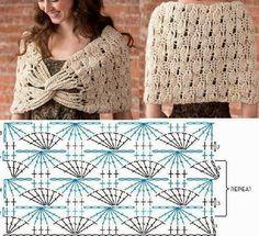 Crochetemoda: Xale de Crochet