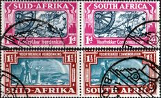 South Africa 1938 Voortrekker Commemoration Set Mint SG 80 1 Scott 79 80 Other South Africa Stamps HERE