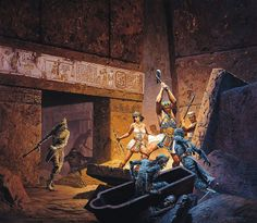 keith parkinson - mummies in the crypt