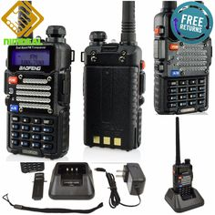 MOBILE RADIO SCANNER Dual Band FM Ham Two Way Walkie Talkie Police Transceiver