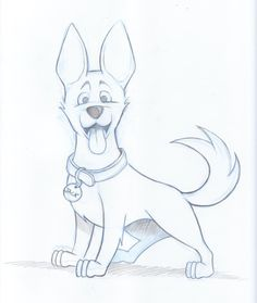 Simple Drawings Dog 1