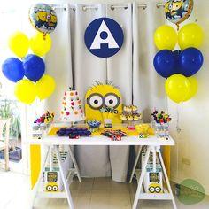 Minion Themed Birthday Party with Such Cute Ideas via Kara's Party Ideas KarasPartyIdeas.com #minionparty #despicableme #partydecor #partyideas (2)