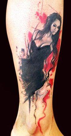 Red Tattoos, Pin Up Tattoos, Body Art Tattoos, Sleeve Tattoos, Tattoo Girls, Girl Tattoos, Tattoos For Women, Trash Polka Tattoos, Tattoo Trash