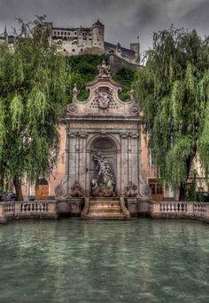 Beautiful Places...Neptun's Fountain Salzburg, Austria, photo by 1982Chris911 (Thank you 1.250.000 Times) via Flickr.
