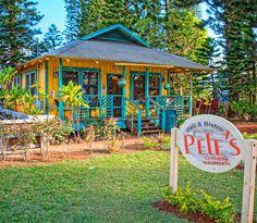 #PelesOtherGarden- relaxing food and friends in #Lanai! #Hawaii #hawaiilife  www.hawaiilife.com
