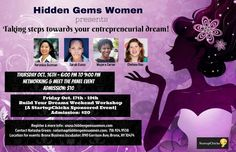 Networking & Panel Event: Taking Steps towards Your Entrepreneurial Dream!  Thursday, October 16, 2014 6:00 PMto9:00 PM  Bronx Business Incubator 890 Garrison Avenue, 2nd Floor Bronx, NY  Panelists include: • Veronica Guzman, owns her owns venture company, WAM Ventures.  •Sarah Kunst, is a partner at Fortis Partners and the recipient of the Marie Claire Young Gun - Top Women Under 35.  • Chelsea Rao is a connector and development strategists within the New York State and City…