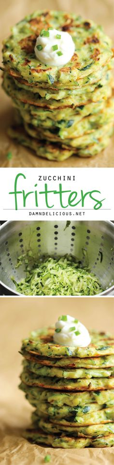 Zucchini Fritters - These fritters are unbelievably easy to make, and the perfect way to sneak in some veggies!