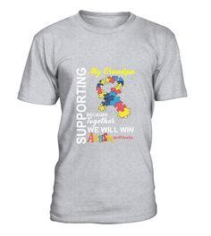Supporting Grandpa We Will Win Autism Awareness 2 TShirt