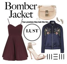 """""""#bomberjackets"""" by moria801 ❤ liked on Polyvore featuring Topshop, Chloé, Windsor Smith, Kre-at Beauty, women's clothing, women, female, woman, misses and juniors"""