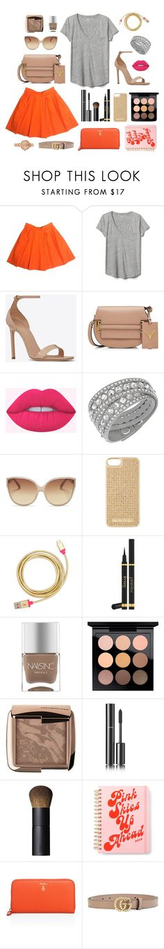 """Chata de Galocha - 29/01/2015"" by jessblock on Polyvore featuring Gap, Yves Saint Laurent, Valentino, Swarovski, Linda Farrow, MICHAEL Michael Kors, ban.do, Nails Inc., MAC Cosmetics and Hourglass Cosmetics"