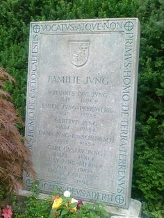 Carl Jung was buried in a family grave at the Protestant Church Graveyard in Kusnacht