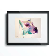 Custom Abstract Pet Portrait 8 x 10 Watercolor by RaeLBaker, $75.00